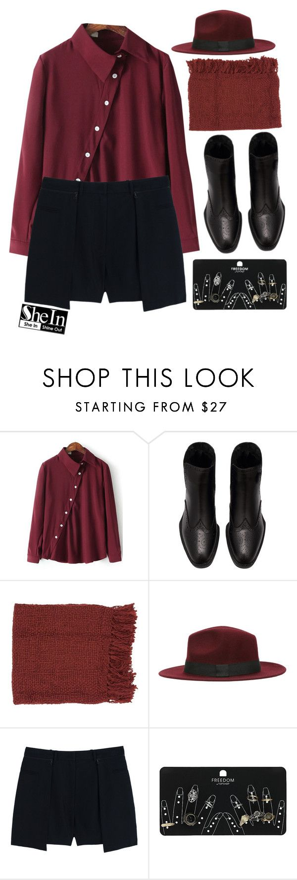 """""""#SheIn"""" by credentovideos ❤ liked on Polyvore featuring Surya, 3.1 Phillip Lim and Topshop"""