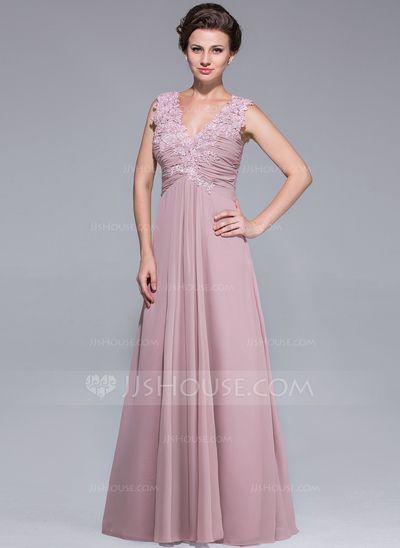 Kleider Für Die Brautmutter, V Ausschnitt, Verzieren, Chiffon Kleid,  Kleider Rock, 9486dda1da