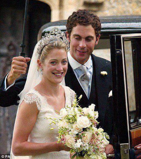Hugh Van Cutsem and Lady Rose Astor wearing the Heathcote tiara.