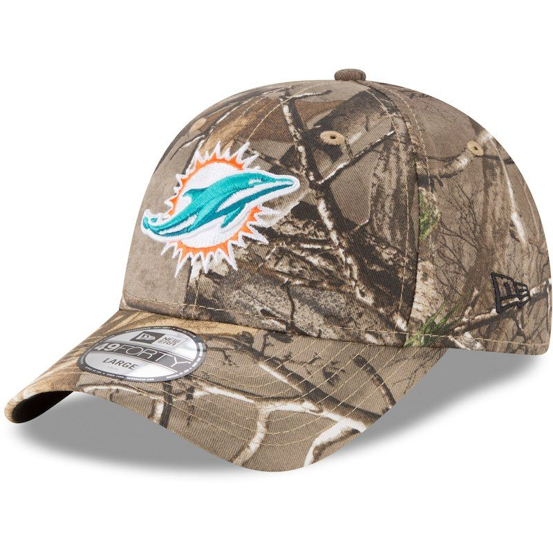 413df4c4 Miami Dolphins New Era Realtree 49FORTY Fitted Hat - Realtree Camo ...