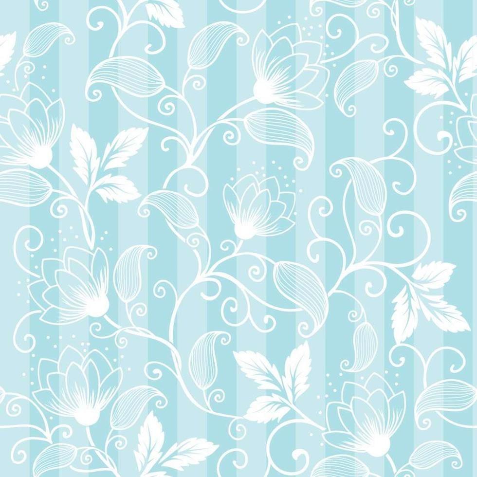 350f9d6bca8a Papel de Parede Adesivo Floral Azul e Branco 589695 | paper | Papel ...