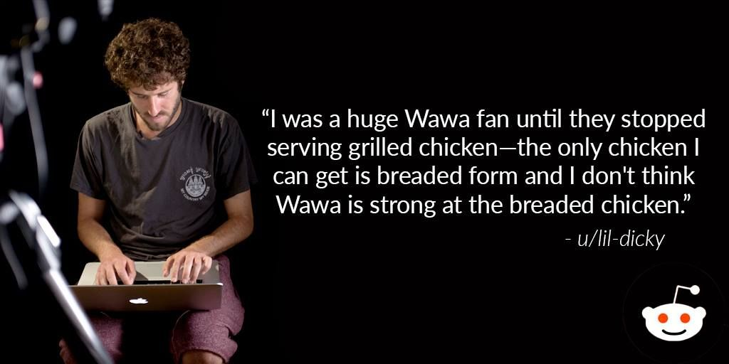 Professional Rapper Lil Dicky gets real about WaWa chicken. | Rapper, Tinder dating, Album