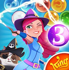 تحميل لعبة الفقاعات الملونة Bubble Witch Saga للاندرويد