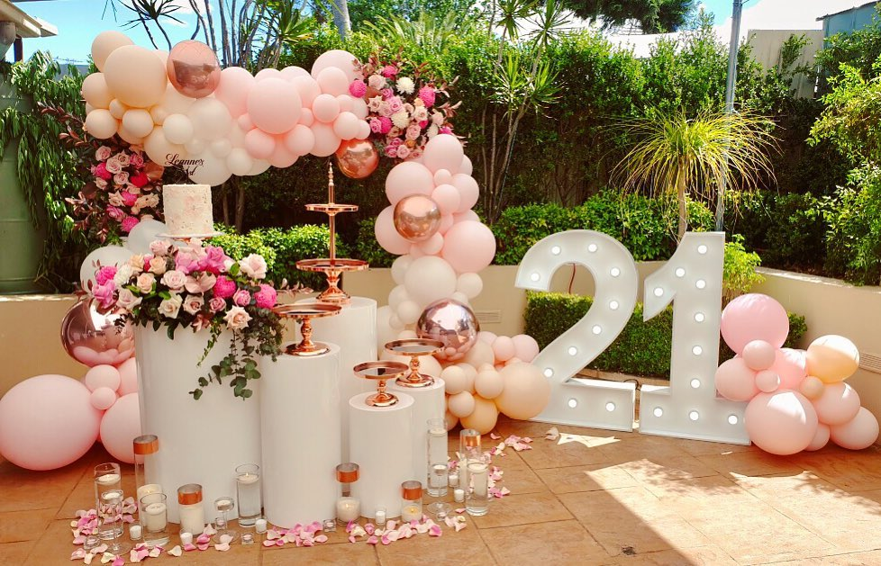 21st Birthday Set Up Balloons By Quirky Balloons 21st Lightupnumbers Caketable Pinkballoons 21st Birthday Decorations 21st Party Decorations 21st Birthday