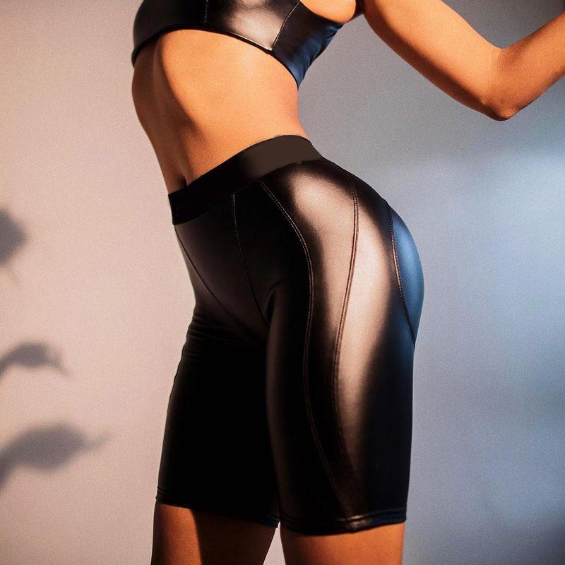 310481dd15 Black High Waist PU Leather Shorts Women Sexy Fashion Winter Faux ...