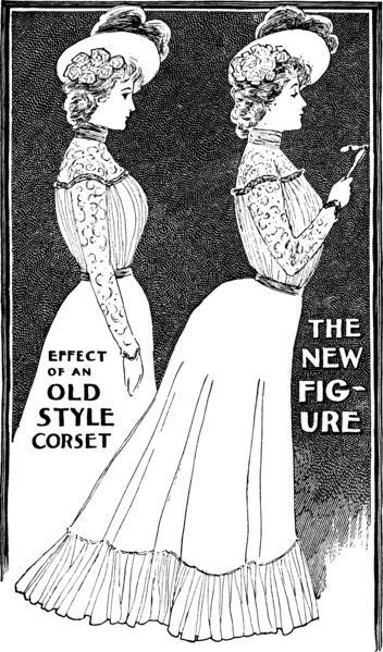 Omg Don T Be Old Fashioned The S Corset Was The New Thing Edwardian Corsets Edwardian Fashion Edwardian Gowns