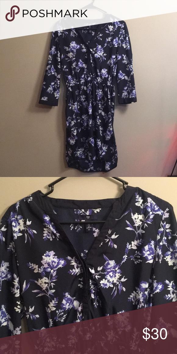 Gap Flower Dress Beautiful Fl Half Sleeve Silky Dresses Long