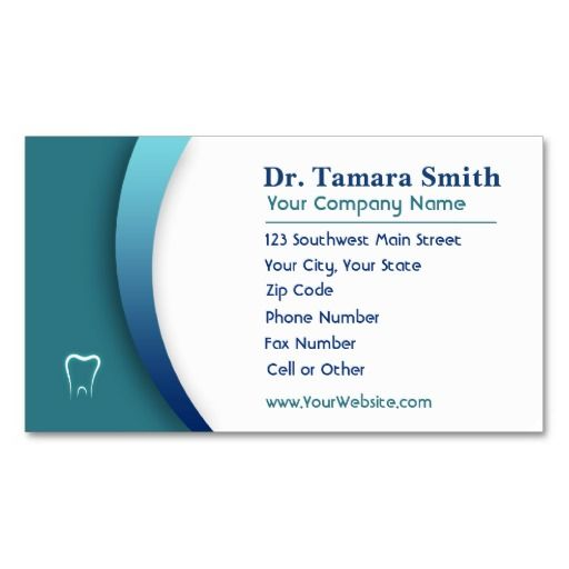 Medical Business Card Template Design. Make Your Own Business Card