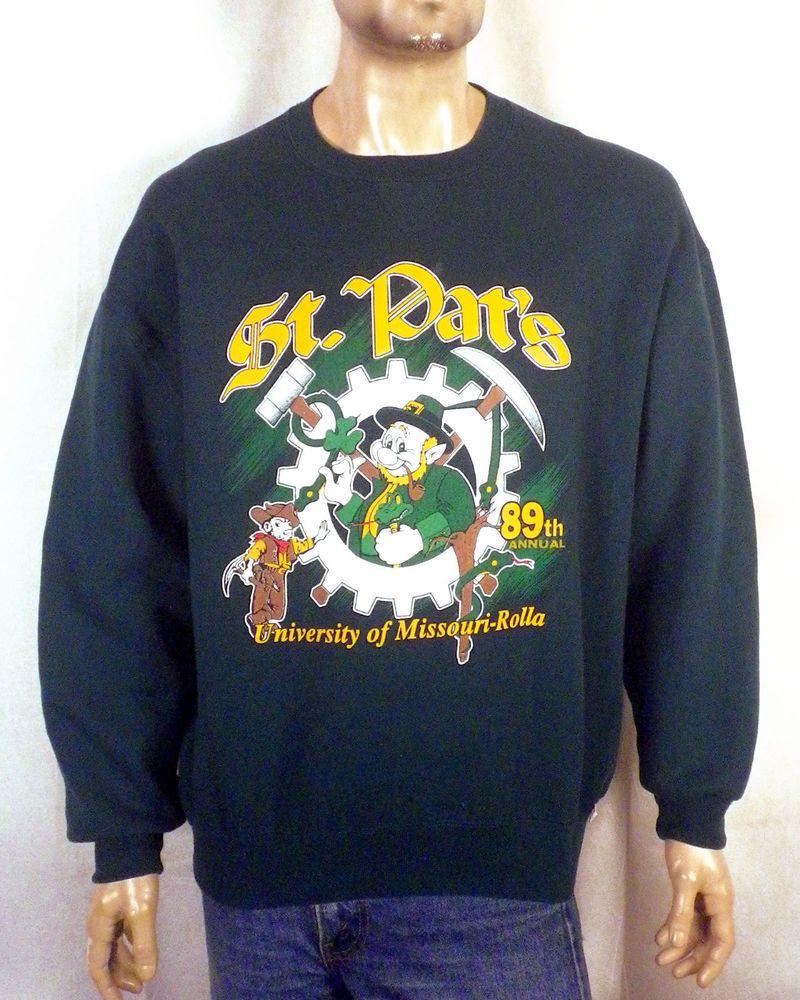 vtg 90s rare 1997 UMR Missouri Rolla 89th Annual St Pat s Sweatshirt  russell XL 476b918d4