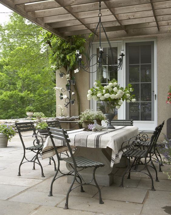 20 Chic French Country Terrace Decor Ideas French Country Decorating Outdoor Living French Country House