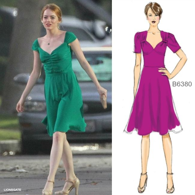 sew the look la la land movie style butterick dress pattern b6380 sew the look inspiration. Black Bedroom Furniture Sets. Home Design Ideas