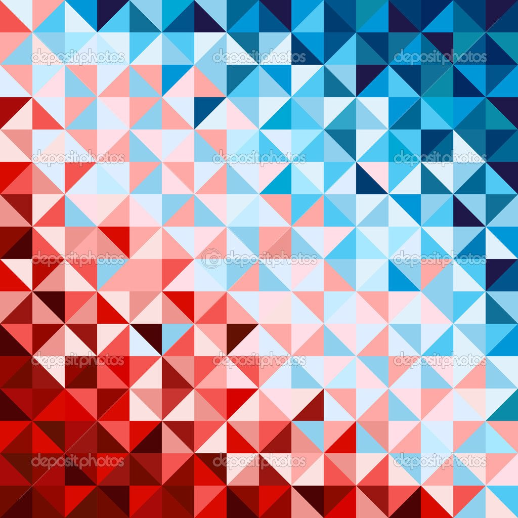 Abstract Geometric Background Red And Blue Stock Vector