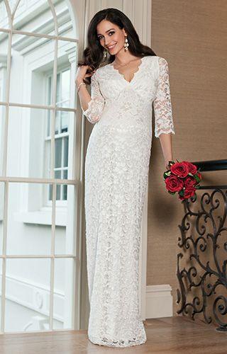 754f26331 Valentina Maternity Wedding Dress (Long) Ivory by Tiffany Rose