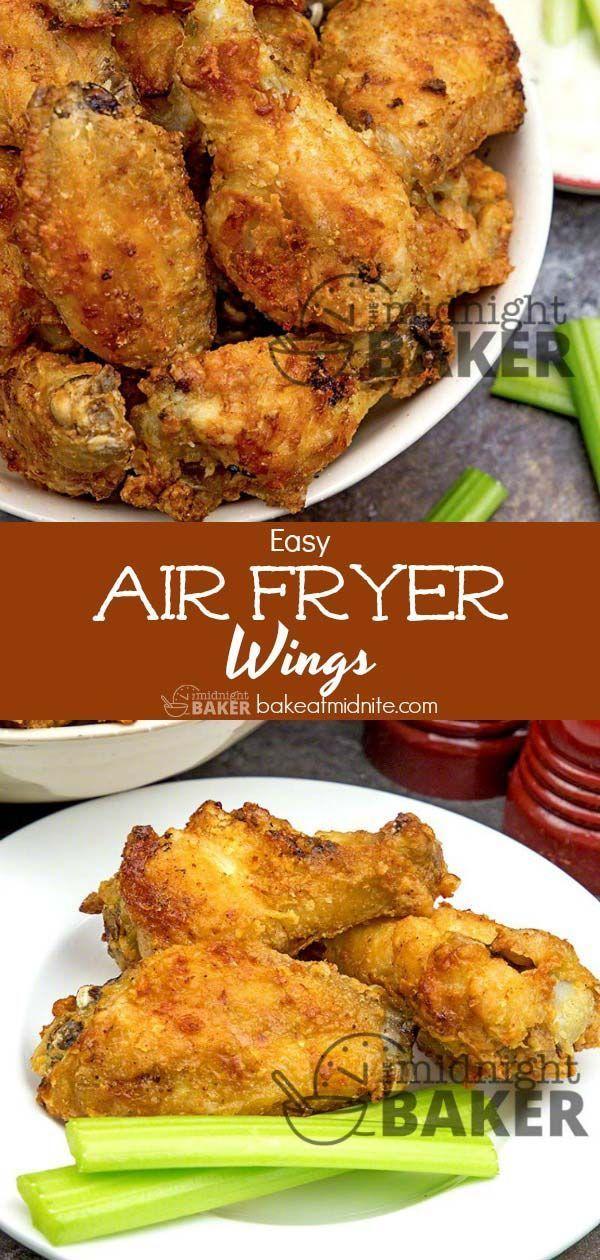 Easy Air Fryer Wings - The Midnight Baker