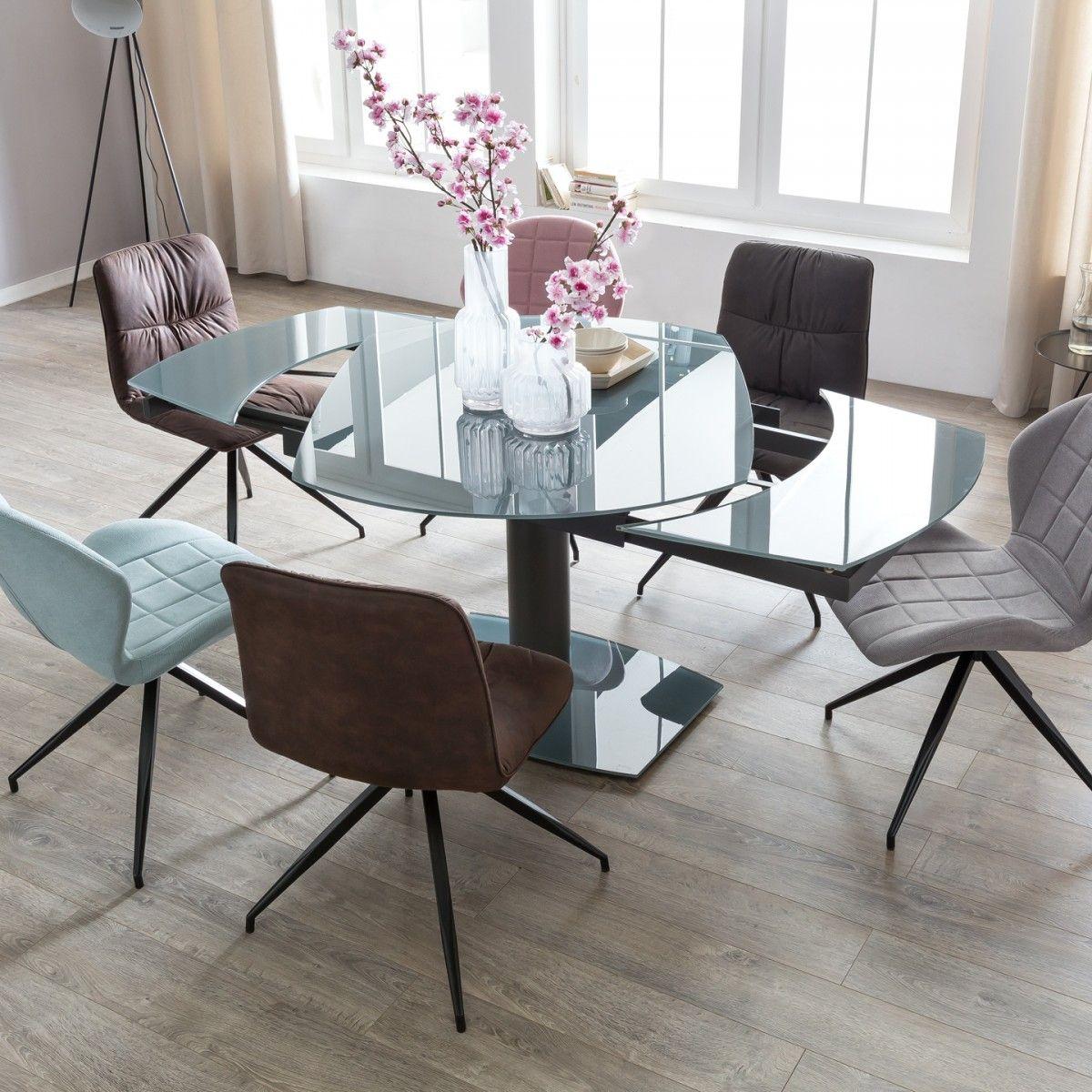 Wohnling Glastisch Noble Ausziehbar Oval Wl5 130 Aus Sicherheitsglas Und Metall Esszimmertisch Kuche Auszie Esstisch Glas Ausziehbar Esszimmertisch Esstisch
