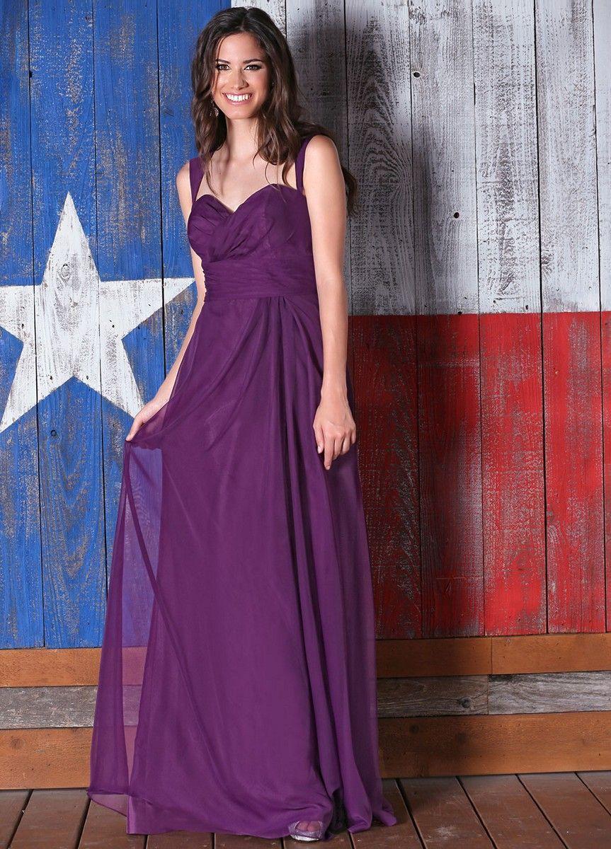 Da Vinci 60197 Dress Chiffon Two-Strap Cutout Back Ruched Midriff ...