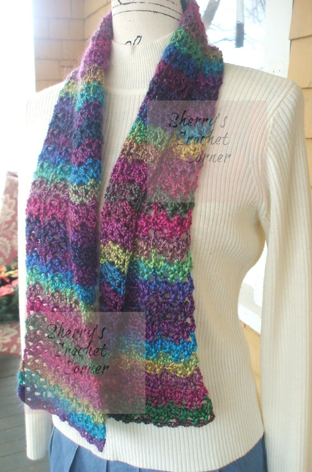 Unforgettable Stained Glass Scarf (AllFreeCrochet.com Articles)