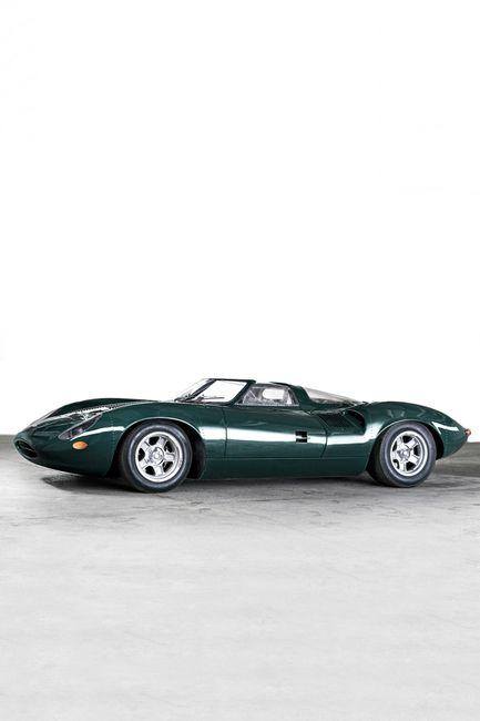 Jaguar XJ13 Le Mans Race Car~The Jaguar XJ13 was a prototype racing car developed by Jaguar to challenge at Le Mans in the mid-1960s.