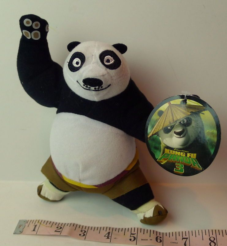 "Dreamworks #KungFuPanda 3 Po The Dragon Warrior 8"" Plush Bear Figure #DreamWorks"