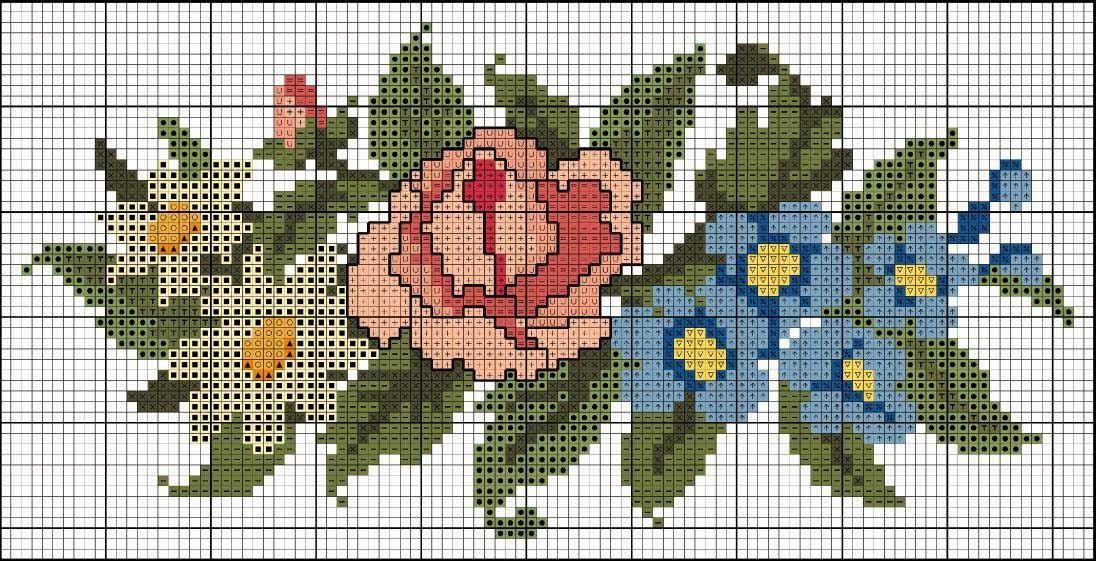 Perfecto Patrón De Flores Simples De Punto Imágenes - Manta de Tejer ...