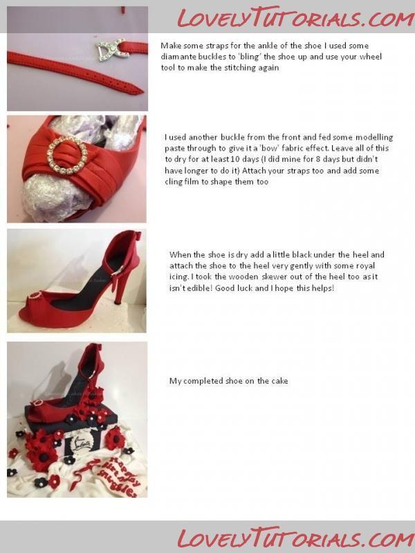 Geechigirl's high heel shoe template by geechigirl on cakecentral.