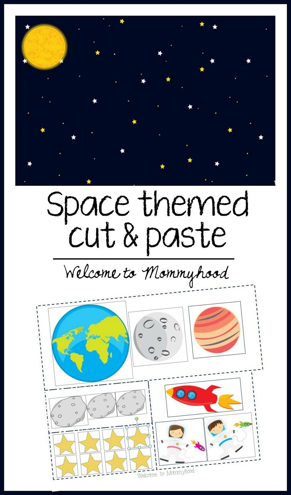 Free space themed learning pack homeschool solar system free space themed learning pack homeschool solar system worksheets and scissors robcynllc Images