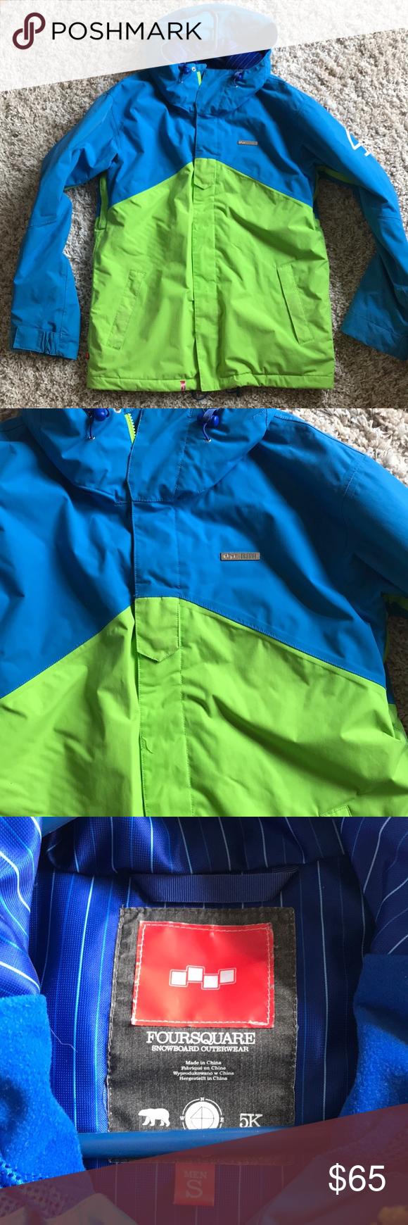 Electric Blue Active Jacket w Many Pockets