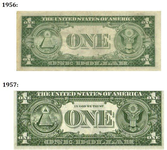 The First Paper Currency Bearing The Motto In God We Trust Entered