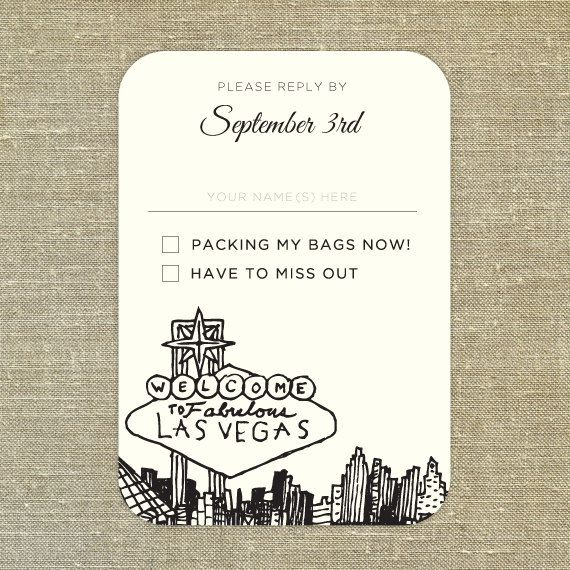 Las Vegas Wedding Invitation Wording: Las Vegas Skyline Plane Ticket Wedding Invitation