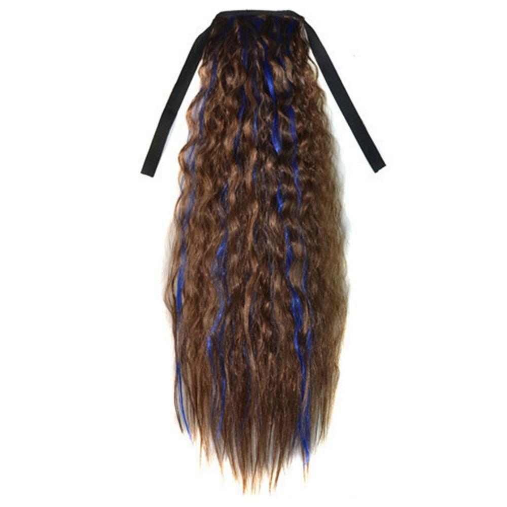 Corn Hot Lace-up Horsetail Gradient Ramp light brown sapphire blue 2M30HBLUE2#