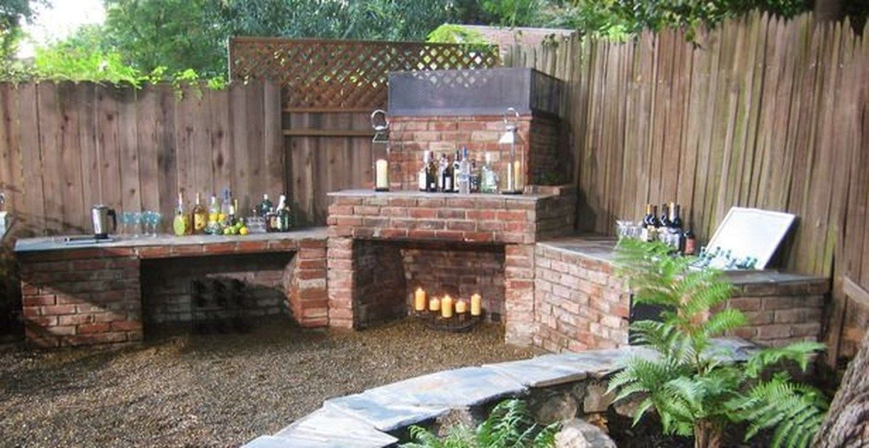 48 Pretty Outdoor Backyard Kitchen Ideas Backyard Kitchen