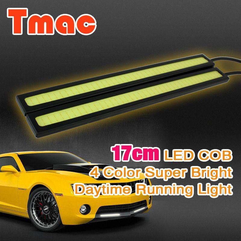 Auto styling 2 stks/partij DLR 17 cm cob Dagrijverlichting LED rijden auto licht parking lichten mistlamp 100% waterdichte