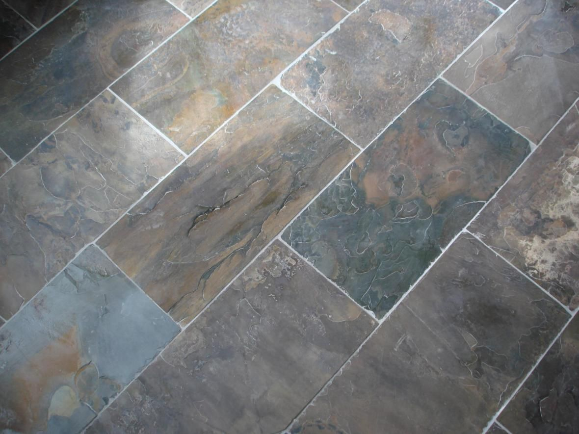 A beautiful natural slate flooring solution soothing for Cool floor tile designs