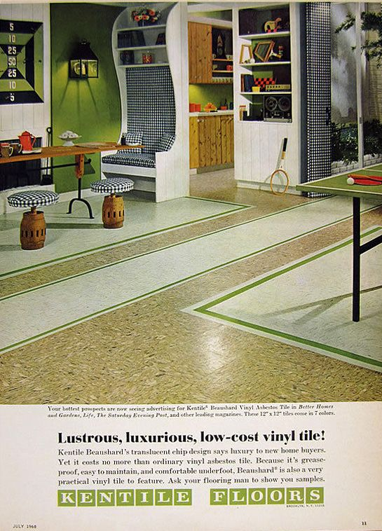 Kentile Floors Rec Room Ad Rec Room New Homes Vinyl Tile