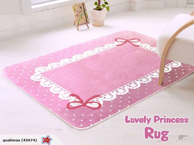 Lovely Princess Rug Pink Bow Trade Me
