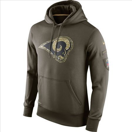 purchase cheap 42b0f eaadc Nike St. Louis Rams Army Green Salute To Service Hoodie|only ...