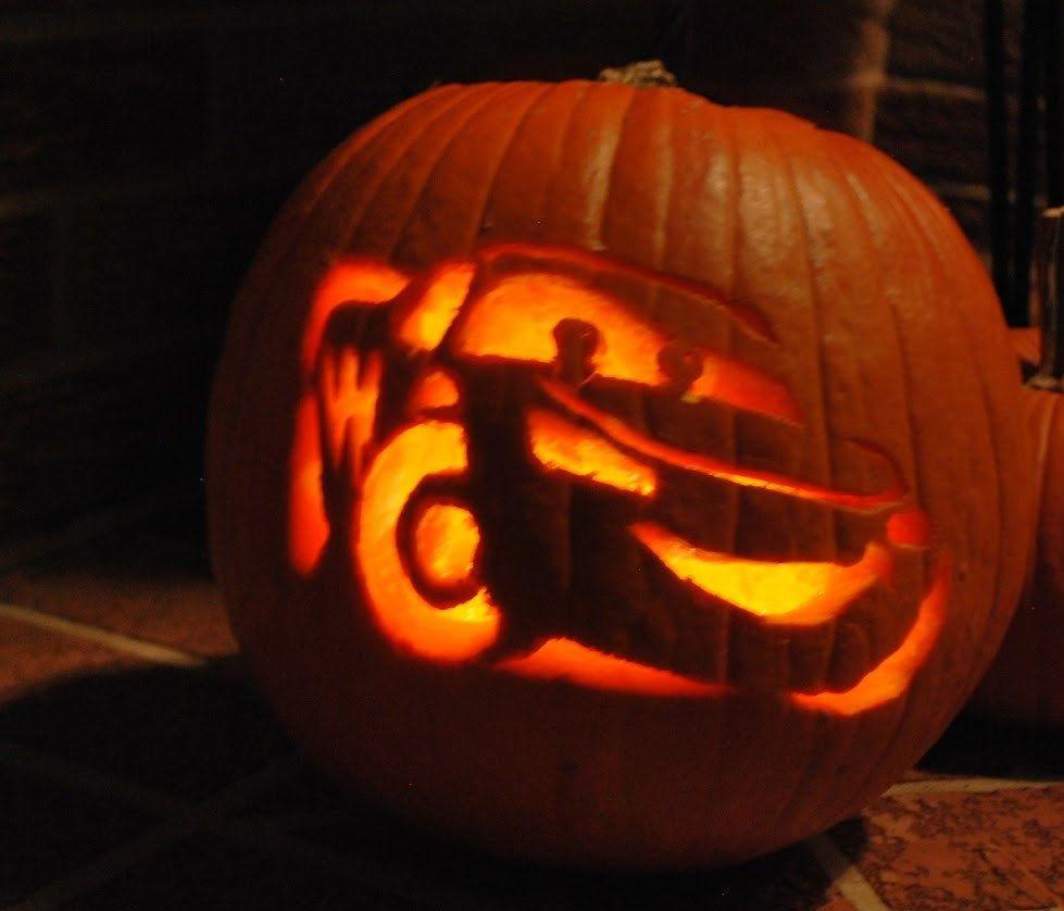 hand car Lightning McQueen pumpkin. good for years