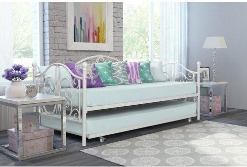 Daybed with Trundle in Bronze or Off-White Bargains and buys from