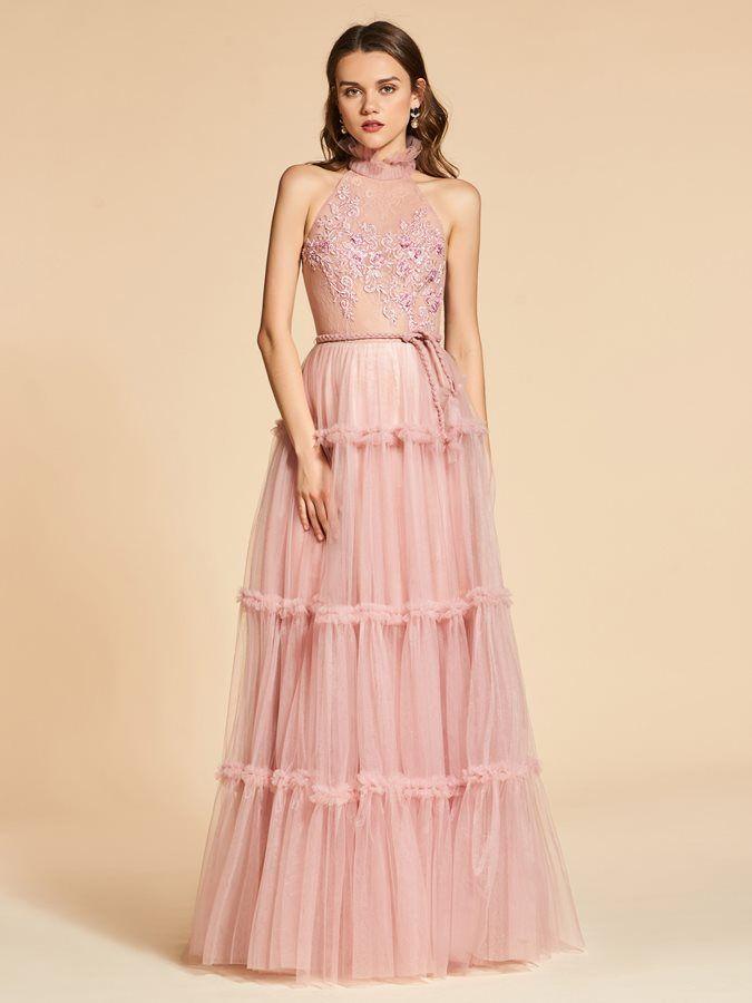 Jewel A-Line Lace Sashes Evening Dress | Closet wishes | Pinterest