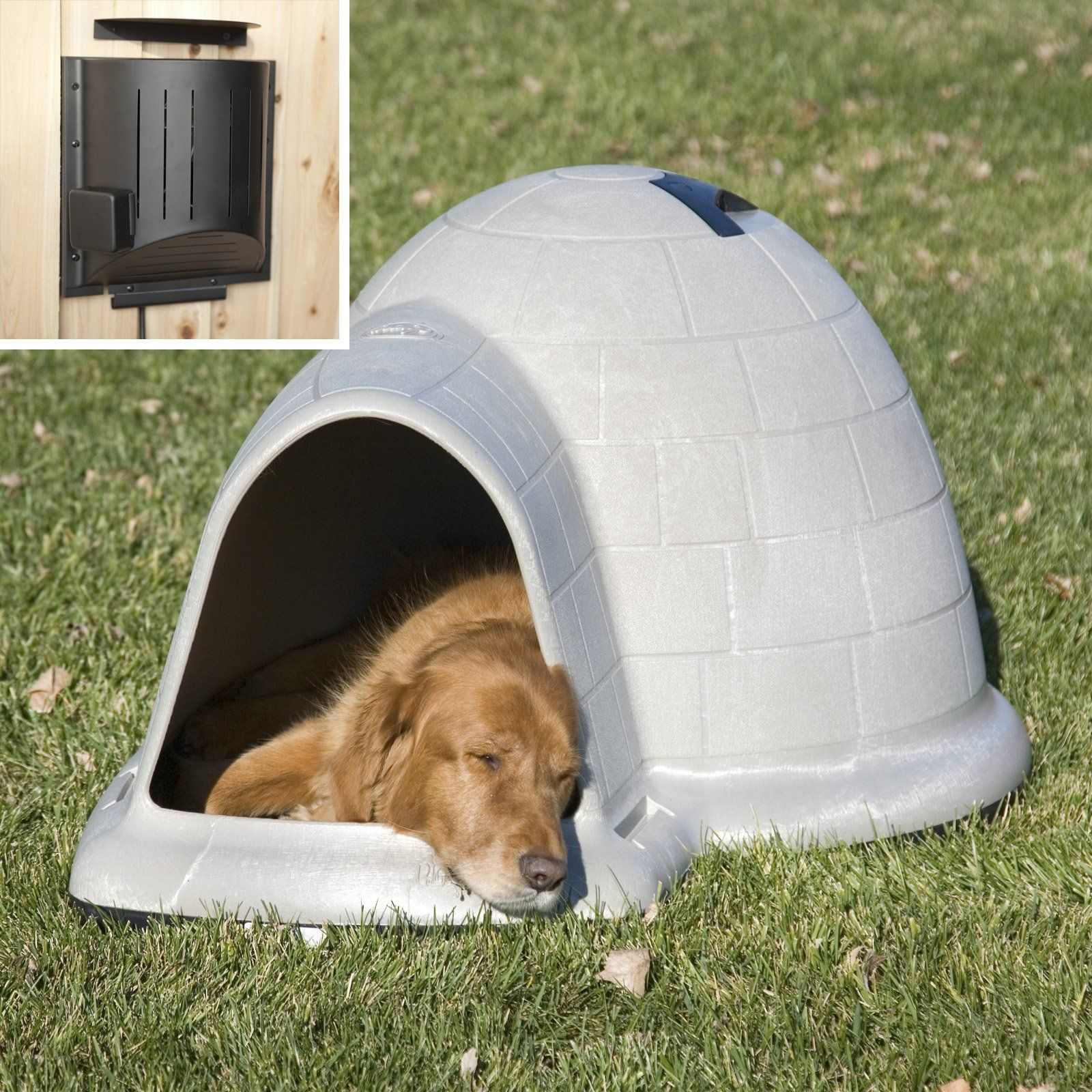 Petmate Indigo Dog House With Heater Tan Pet Mat Dog House