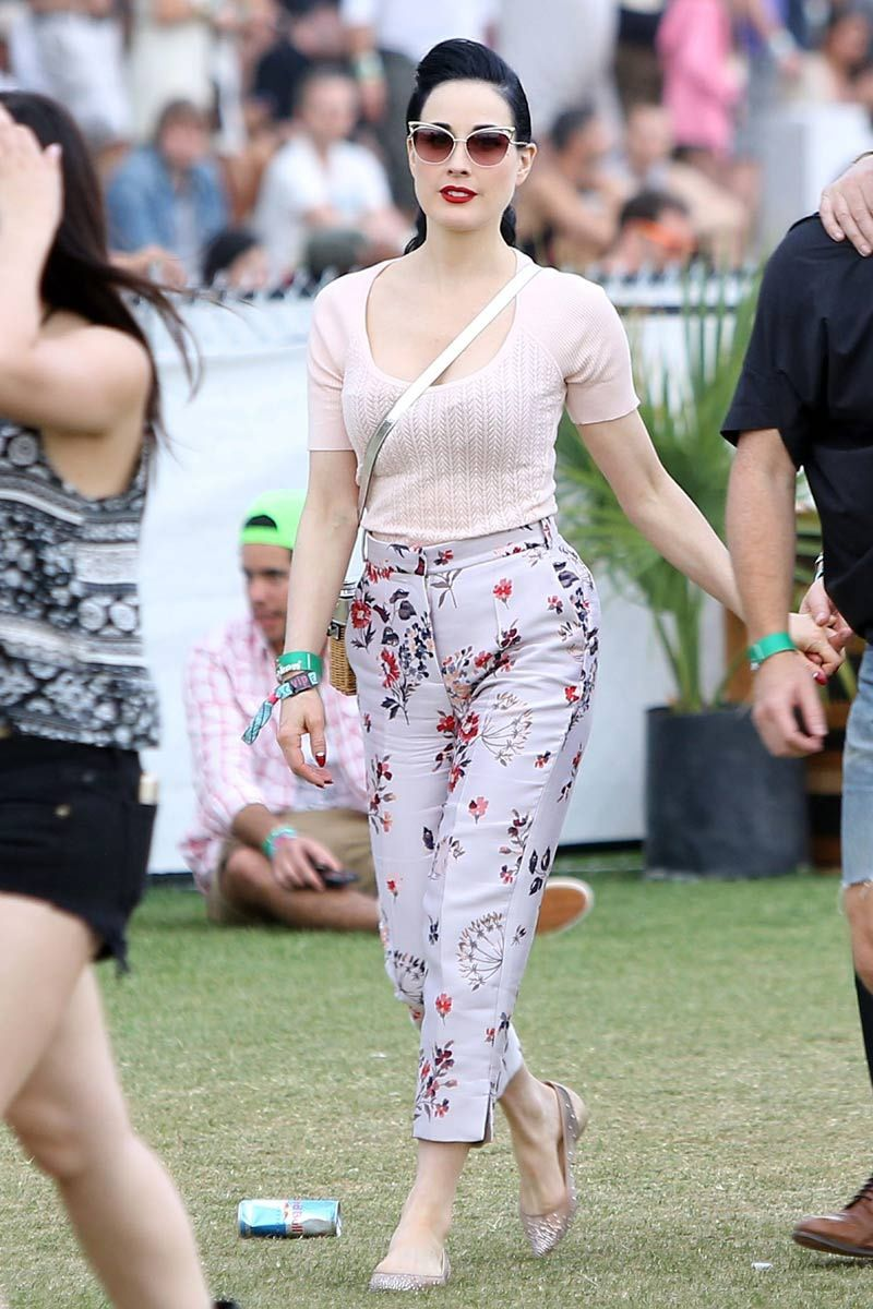 dd76a072447d Dita Von Teese in Stella McCartney - Coachella ...
