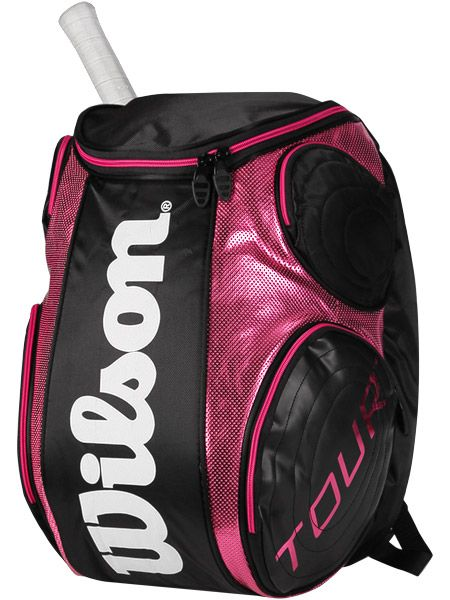 Amazon Com Wilson Sporting Goods Tour Tennis Backpack Black White Red Large Sports Outdoors Wilson Sporting Goods Tennis Backpack Tennis Bags