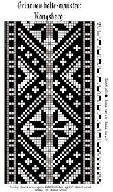 Bunad, Smykker, vev & rosemaling: Grindvevd belte til en mulig sort Kongsberg-drakt.