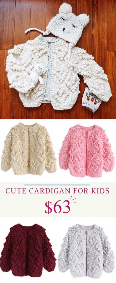 Knit Your Love Cardigan in Ivory For Kids. How cute will your little ...