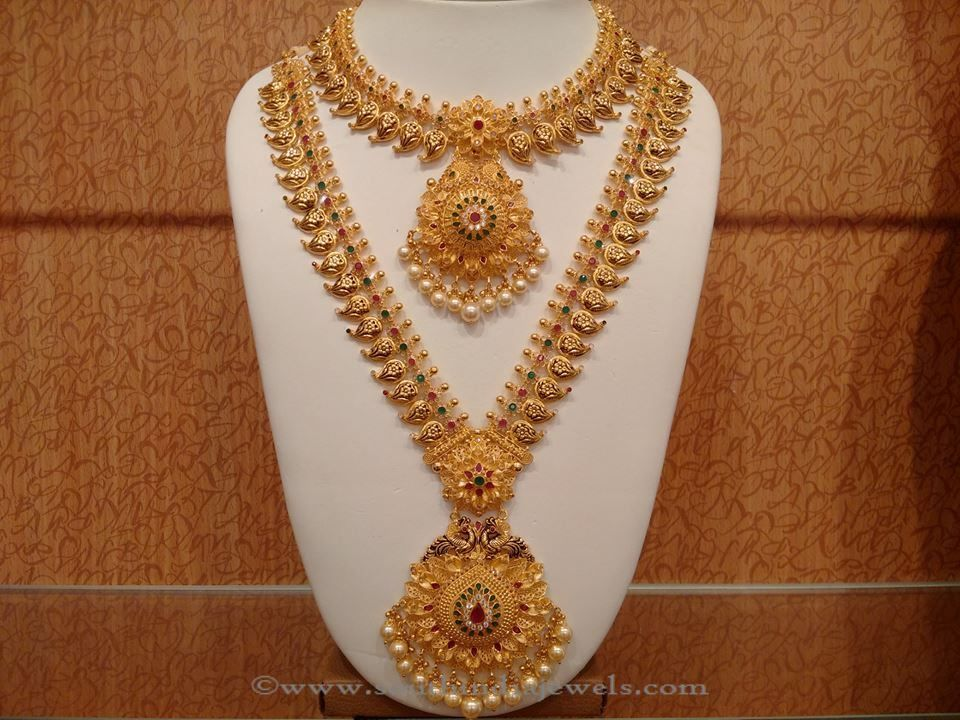 Latest Indian Bridal Necklace set from NAJ | Pearl necklace, Indian ...