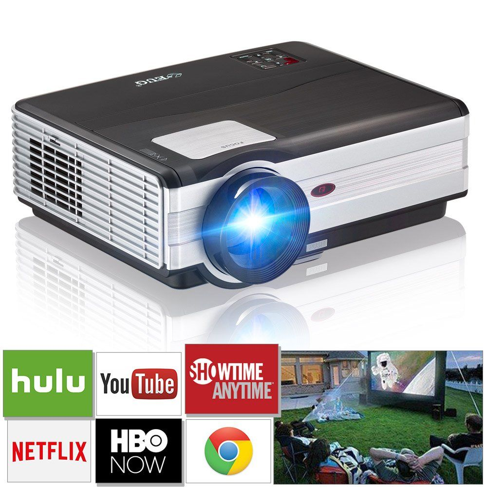 Projecteur Exterieur Wifi Eug Wireless Portable Projector Support Hd1080p 720p Hdmi Usb