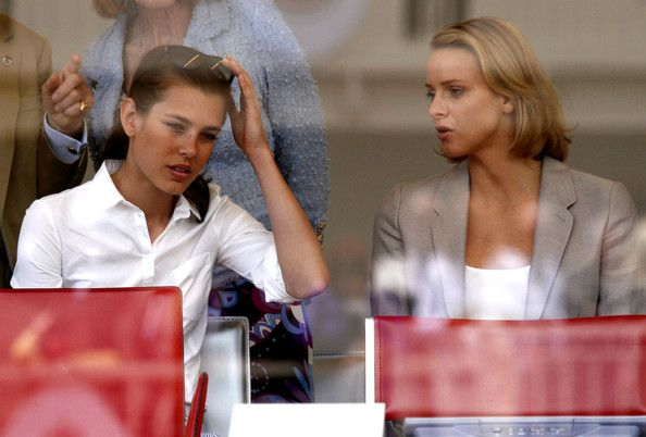 Charlene Wittstock and Charlotte Casiraghi at the Grand Prix