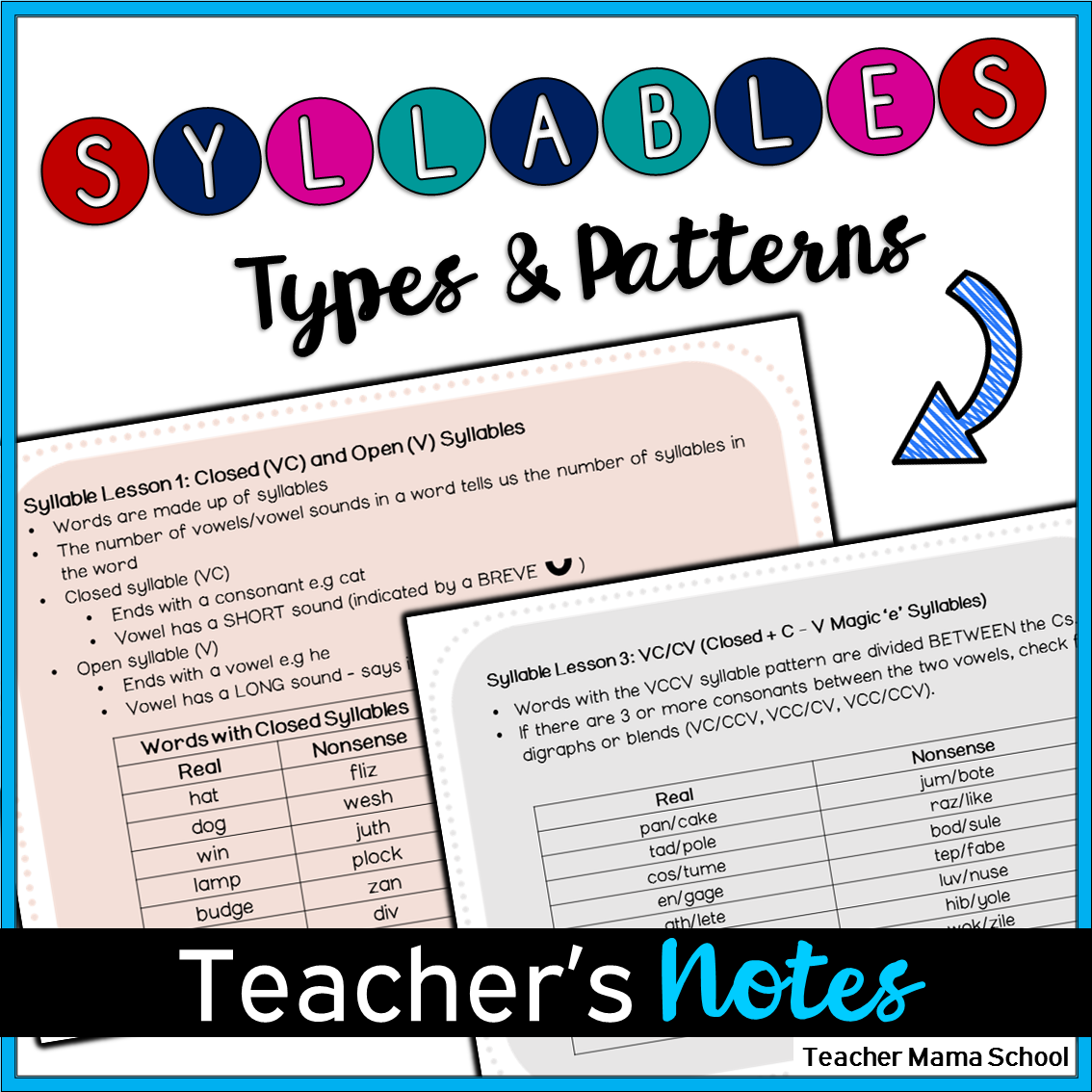 Orton Gillingham Syllables Word Lists And Notes For