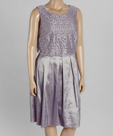 a0068318d9d Look what I found on  zulily! Lilac Lace Sleeveless Dress - Plus by R M  Richards  zulilyfinds