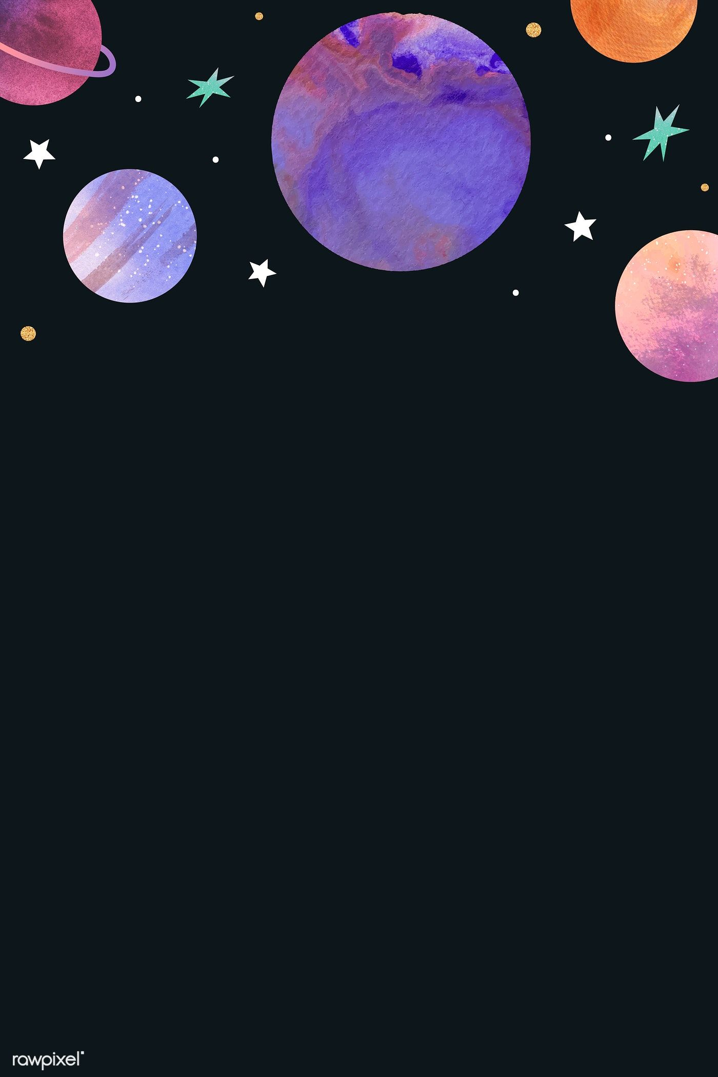 Download Premium Vector Of Colorful Galaxy Watercolor Doodle On Black Watercolor Galaxy Galaxy Drawings Galaxy Painting